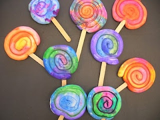 Clay Lollipops - EC/K (model magic)  kindergarten?