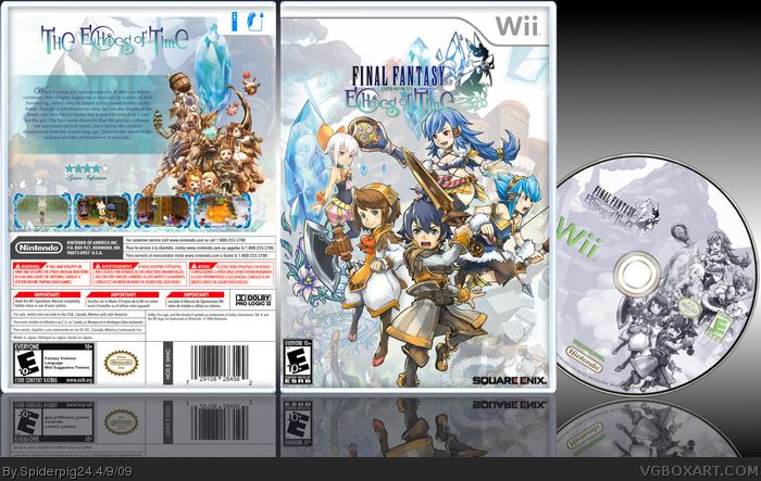 Final Fantasy Crystal Chronicles: Echoes of Time Wii Box Art Cover by Spiderpig24