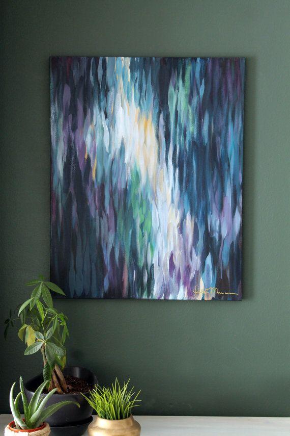 Larkspura 24x30 Original Abstract Painting on by ChrisLovesJulia