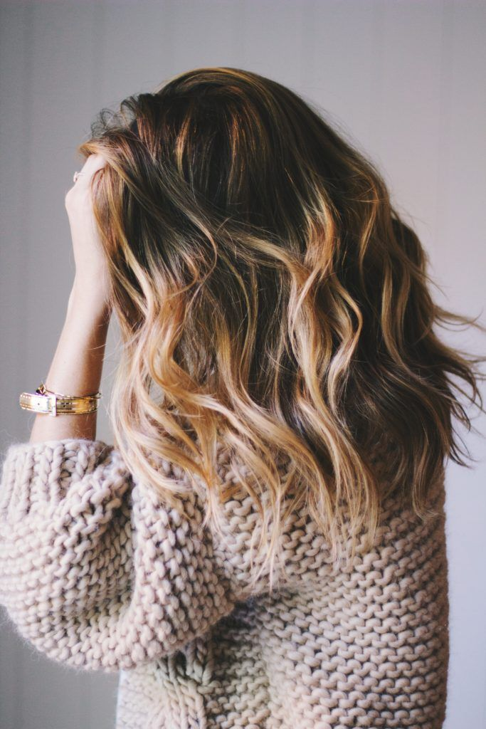 mid length beachy waves hair