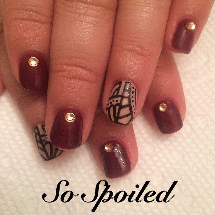 Nail Designs 2017 Burgundy: Amazing burgundy nail designs for women ...
