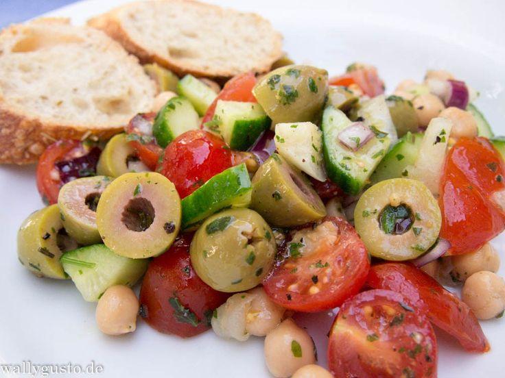 Kichererbsen - Oliven - Salat – Wallygusto Der Blog, der durch den Magen geht
