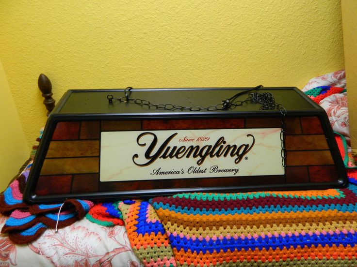YUENGLING POOL TABLE BAR LIGHT | History Room | Pinterest ...