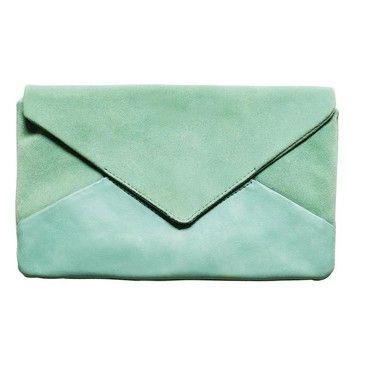 clutchBlue Clutches, Mintgreen, Mint Green, Sea Foam, Colors, Leather Clutches, Aqua, Bags, Envelopes Clutches