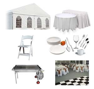 We can offer you...  Marquees  Pop Up Marquees or Gazebos Tables and Chairs Crockery, Cutlery and Glassware  Catering Equipment Flooring and Staging  Cold Rooms Cocktail Machines #alltimepartyhire