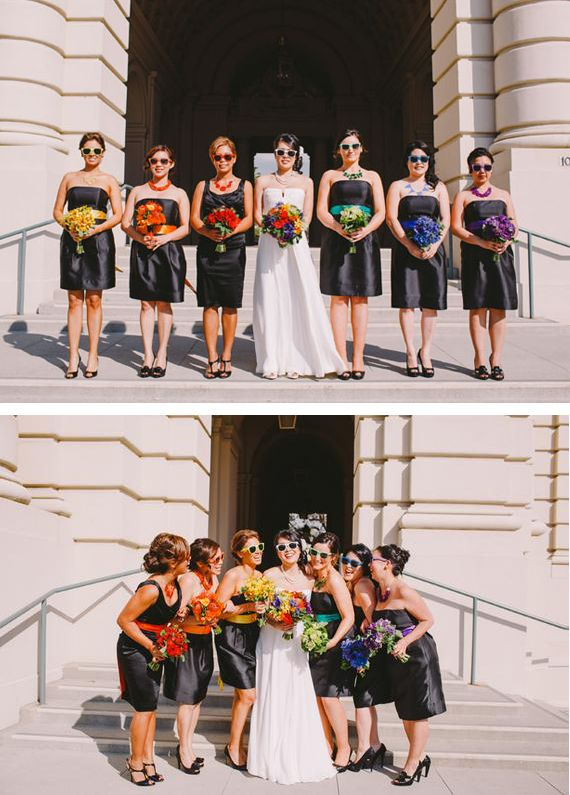 Somewhere Over The Rainbow Real Wedding By Christine Farah Photography