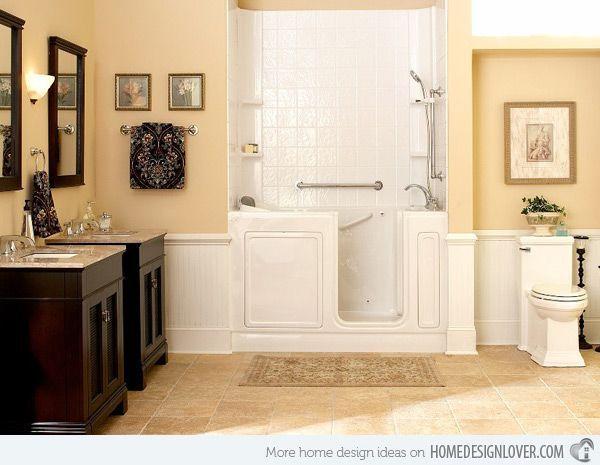 Beige Bathroom Color Schemes   16 Beige And Cream Bathroom Design Ideas,  Beadboard