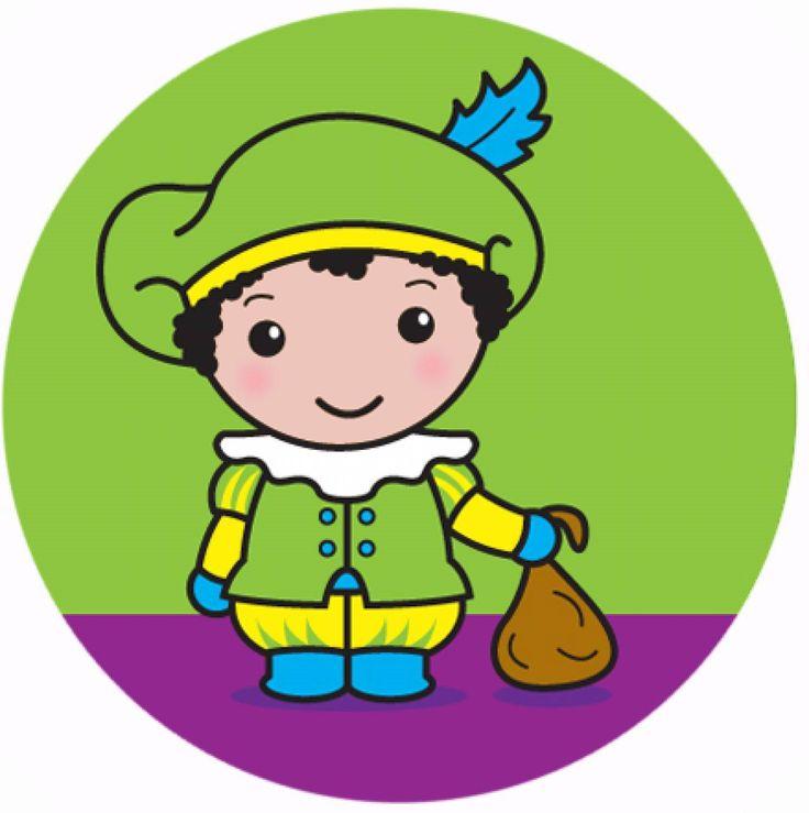 """Sinterklaas en Maatje Piet; Button """"Maatje Piet in het Groen""""  En ja, Maatje Piet is ........Lelieblank! :-D En 't maakt niks uit want zijn/ haar Kostuum maakt """"Maatje Piet"""" herkenbaar."""