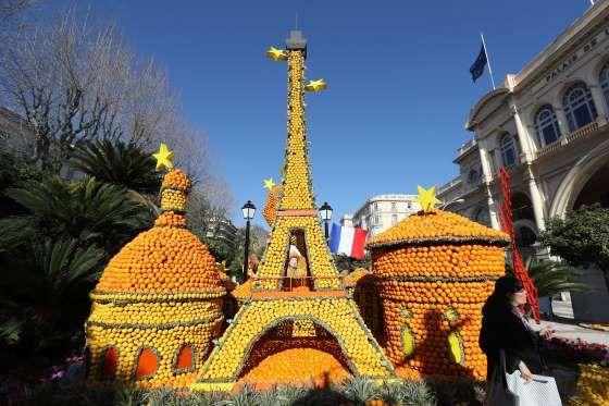Menton, France: Fête du Citron or Lemon Festival, Feb 17-March 7 - VALERY HACHE/AFP/Getty Images
