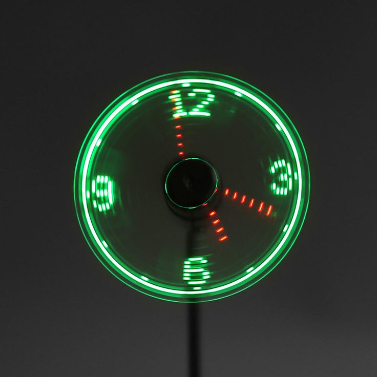 Digoo DG-TFB11 Mini Multifunctional DIY USB LED RGB Programmable Fan & Real Time LED Clock Cooling Fan Colorful Display With Flexible Gooseneck at Banggood