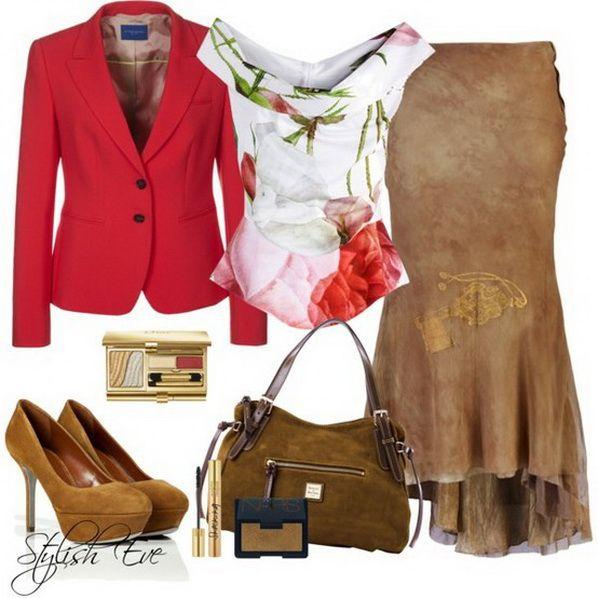 I really like the shirt.  :)    Skirt Outfits by Stylish Eve