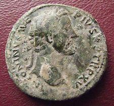 Authentic Ancient Artifact > Ancient Roman Antoninus Pius Sestertius Coin 13742