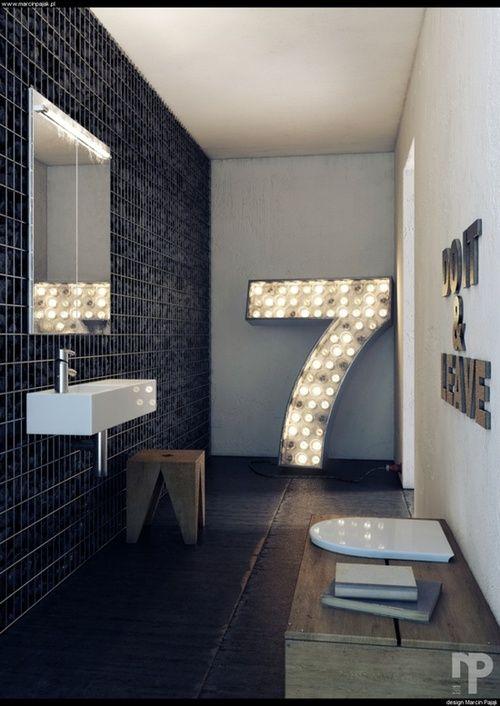 Glam rock bathroom
