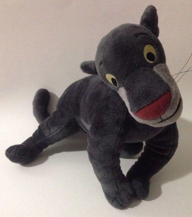 "Disney Store The Jungle Book Bagheera Gray Panther 15"" Plush Stuffed Animal Toy #Disney"