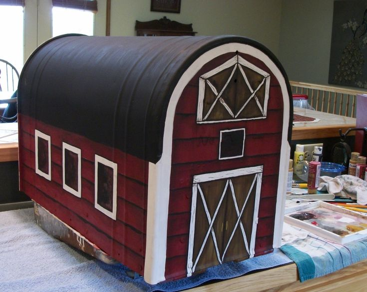 17 Best Images About Old Mailbox Painted Into A Barn On