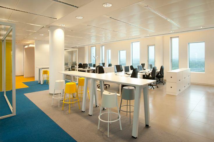Gli uffici, open space.
