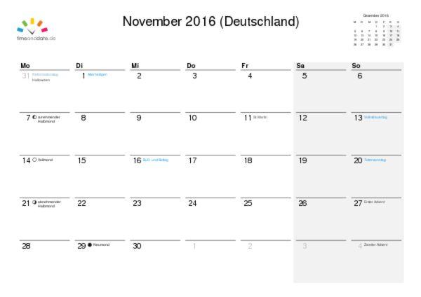 Kalender drucken (PDF)