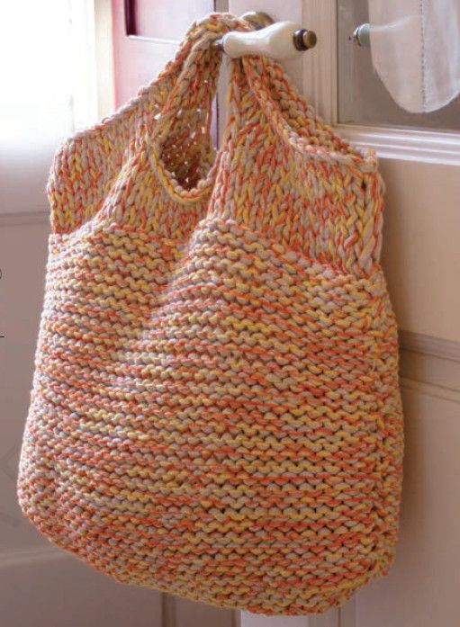 Knit a Giant Bag to Hold Your Knitting Stuff