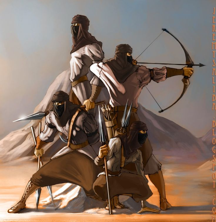 Wheel of Time...the Aiel warriors. I think they are amazing!