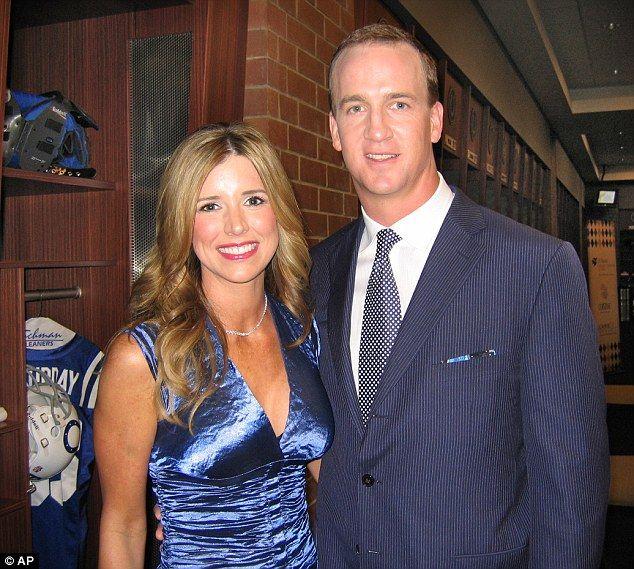Peyton and Ashley Manning