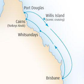 7 Nights on the Pacific Dawn Brisbane - Airlie Beach - Cairns - Port Douglas - Willis Island - Brisbane
