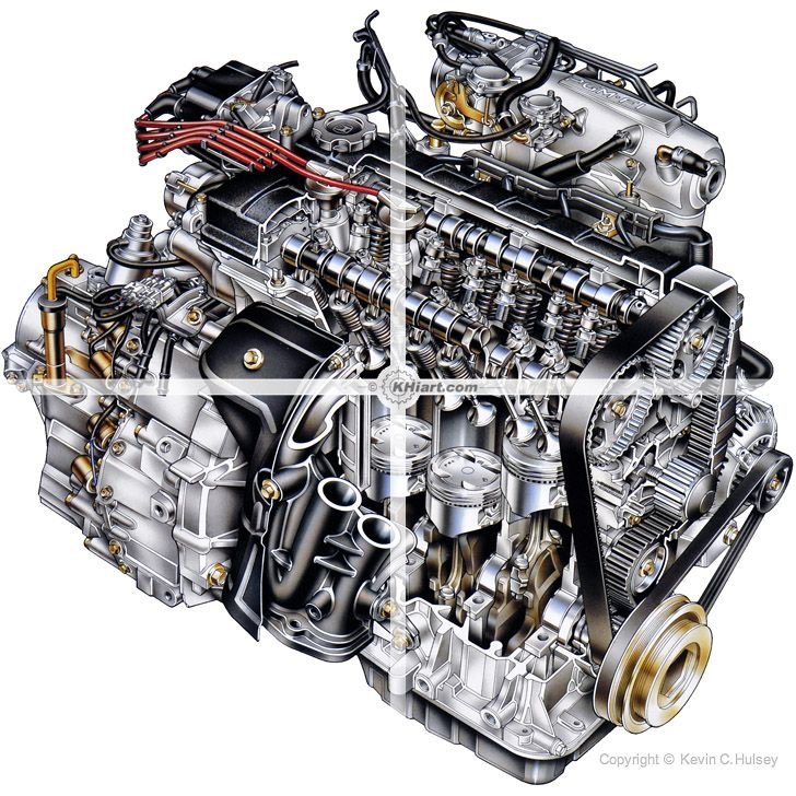 Acura Integra 4-cylinder DOHC Engine Cutaway