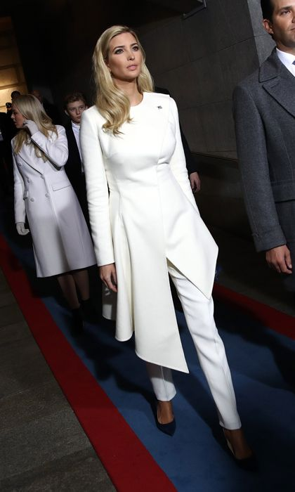 First Lady Melania and first daughters Ivanka and Tiffany Trump's inauguration style