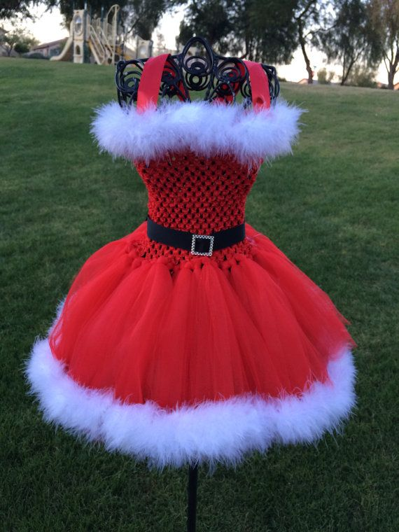 clause inspired tutu dress halloween by tutucuteandbowtastic - Halloween Tutu Dress