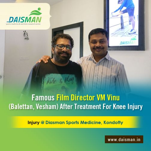 Film Director VM Vinu at Daisman after his successful Knee Injury Treatment  #ayurveda #treatment #hospital #kerala #daisman