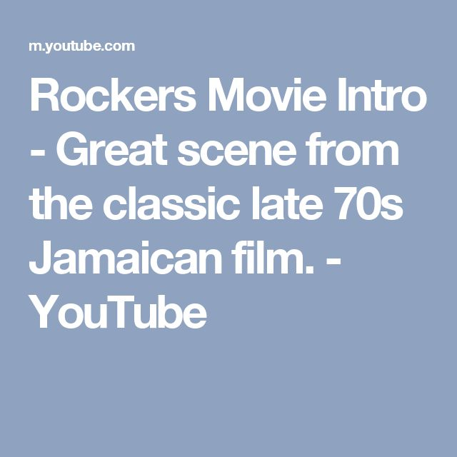 Rockers Movie Intro - Great scene from the classic late 70s Jamaican film. - YouTube