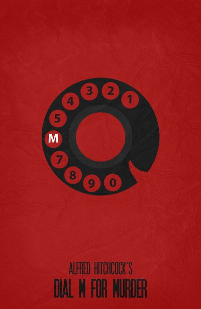 Dial M for Murder (1954) ~ Minimal Movie Poster by Begum Ozdemir #amusementphile