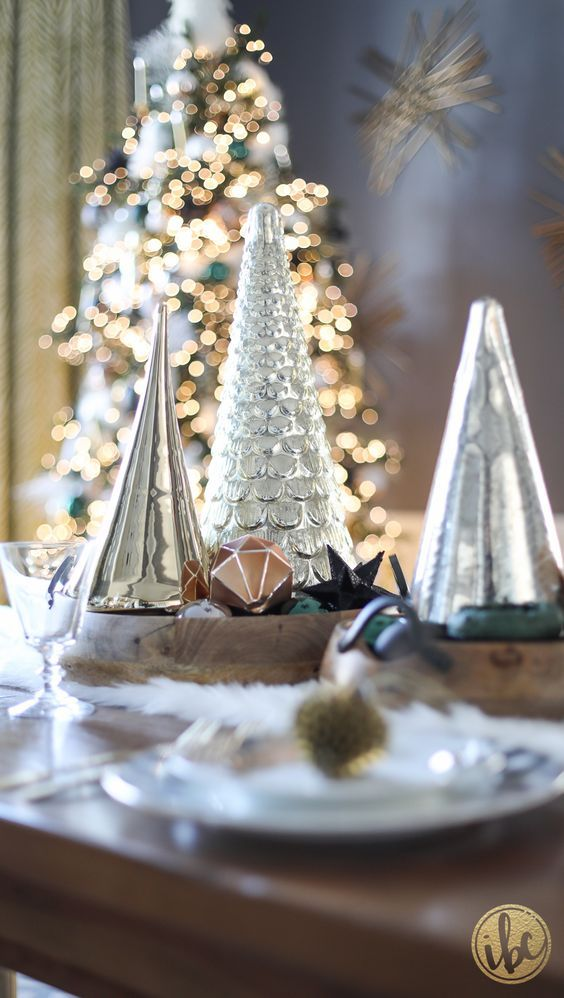 These mercury glass trees (from HomeGoods) are one of my favorite things to decorate with during the holidays. They add festive sparkle in an instant!