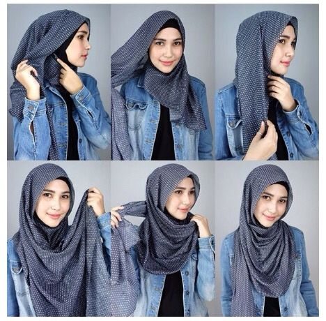 Hijab tutorial. Loose style, works best during hot summer days.