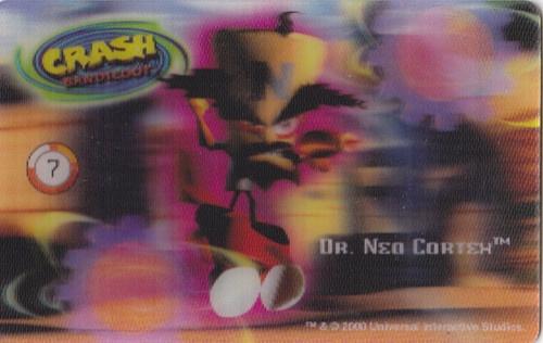 CARD CARTA 3D  CRASH BANDICOOT MR. DAY PARMALAT 2000 CARTA N.  7  OTTIMA