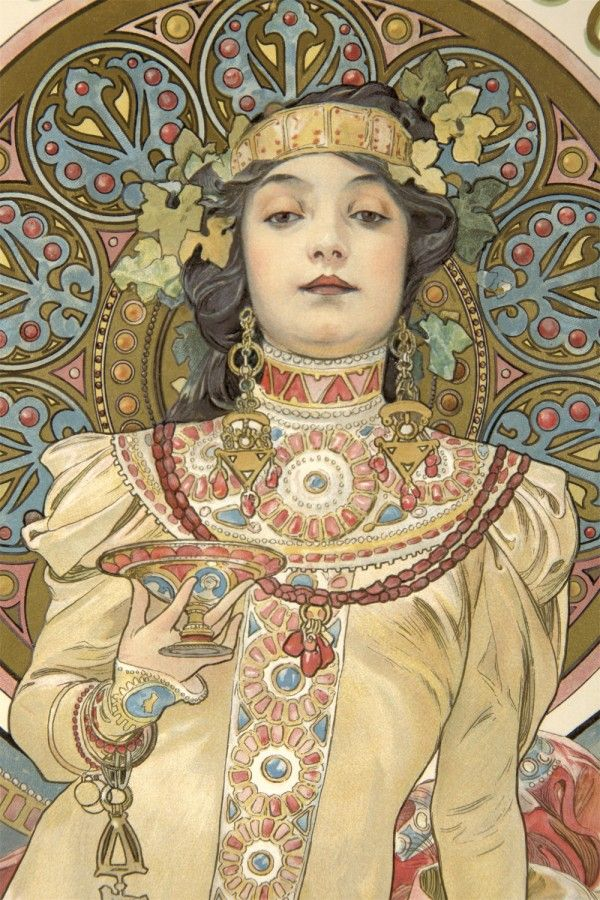 Detail from Alphonse Mucha's Moët & Chandon