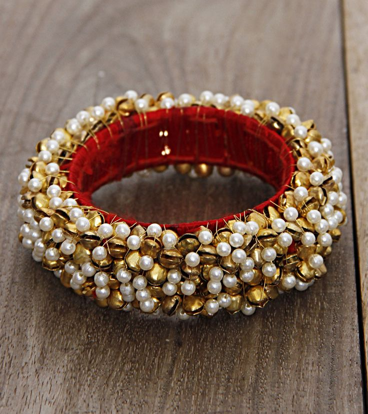Ghungroo & Pearl Bangle