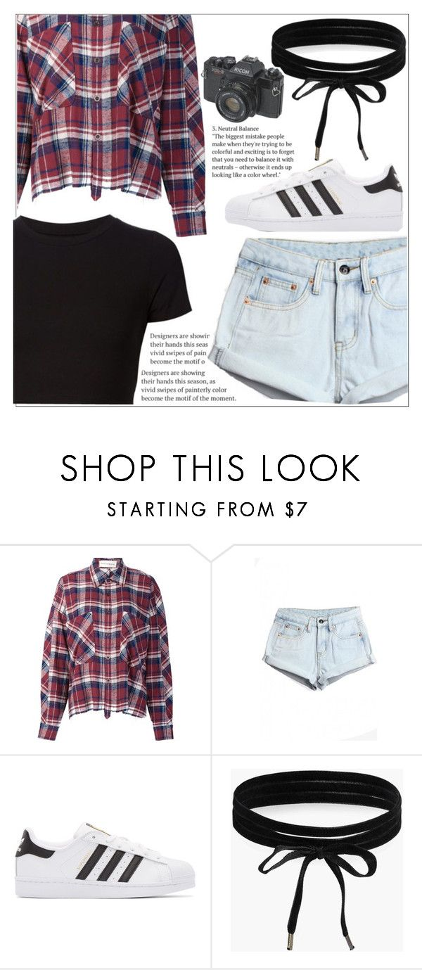 """Brooke's Rode trip outfit! Day #7"" by makenziethedancer ❤ liked on Polyvore featuring Faith Connexion, WithChic, adidas Originals, Boohoo, Getting Back To Square One, cute, OC and ownthelooks"