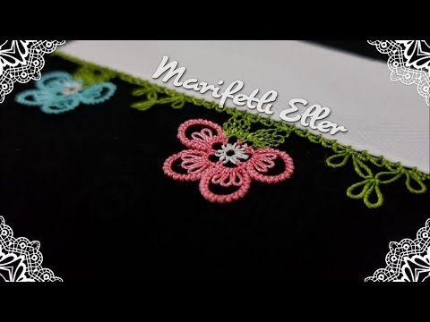 İğne Oyası Sık İğneli Çiçek Modeli Anlatımlı Yapılışı ve Yazmaya Eklenişi - YouTube