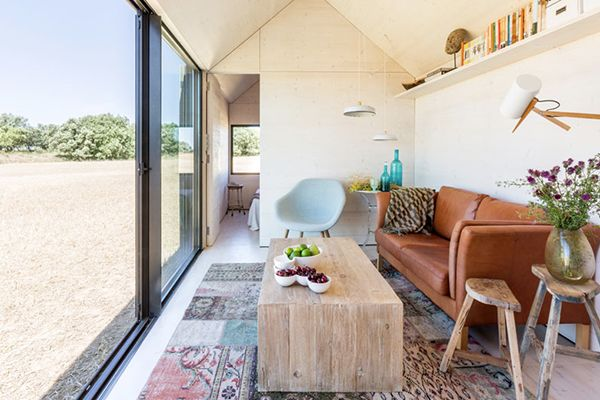 Interior of micro home by Abaton architects