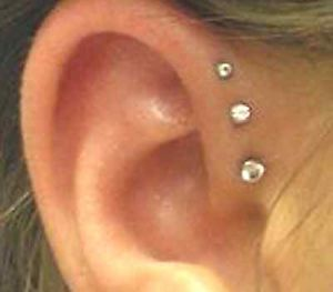Front helix piercing