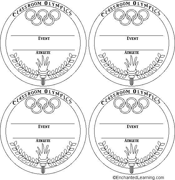 Medal Templates: 2 - EnchantedLearning.com