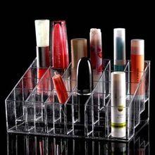 1 adet Plastik 24 Yamuk Temizle Muhtelif Ekran Ruj Standı Durumda Kozmetik Makyaj Organizatör Vaka maskara Tutucu(China (Mainland))