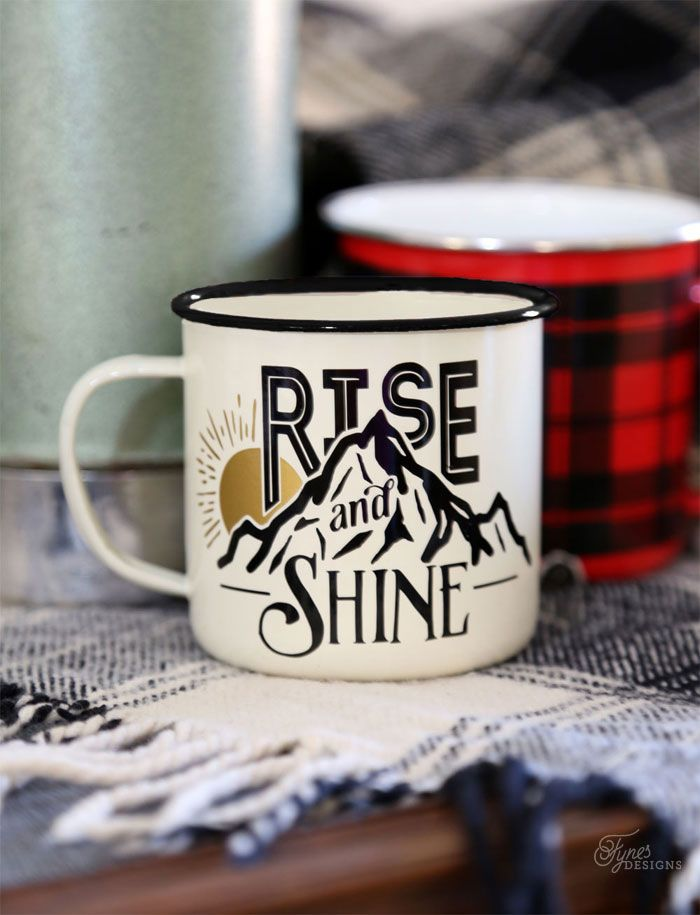 Free Rise and Shine Free Silhouette Cut File. Use in various ways to create your own DIY mugs, painted signs, and scrapbooking layouts!