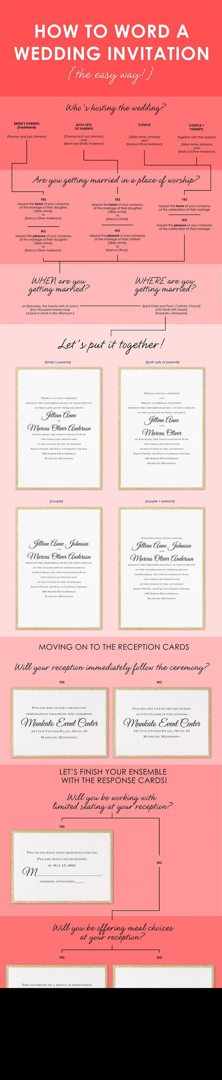 Wedding Invite Etiquette Wording: Best 25+ Wedding Invitation Wording Ideas On Pinterest