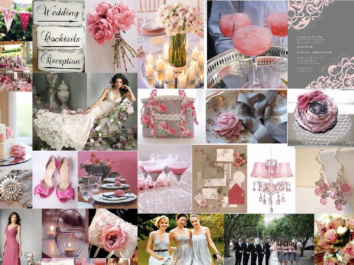 6434bb17c29 Romantic gray and pink   PANTONE WEDDING Styleboard   The Dessy Group