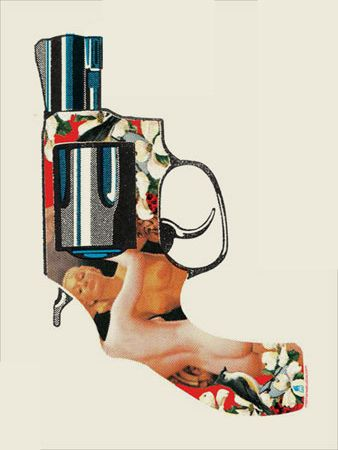 NUDE GUN FOUTH EDITION-OFF WHITE PAPER « Limited Edition Art Posters « Methane Studios $25