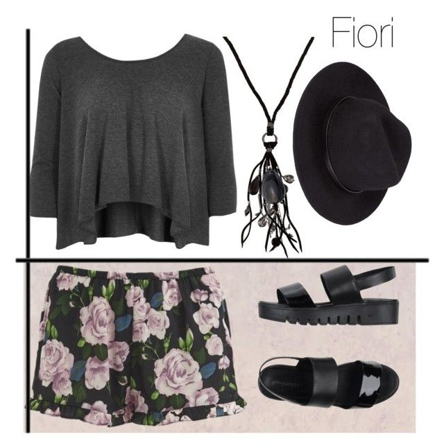 """""""Fiori - camicia grigia"""" by abrianamyers on Polyvore featuring MINKPINK, Jeffrey Campbell, River Island and NAKAMOL"""