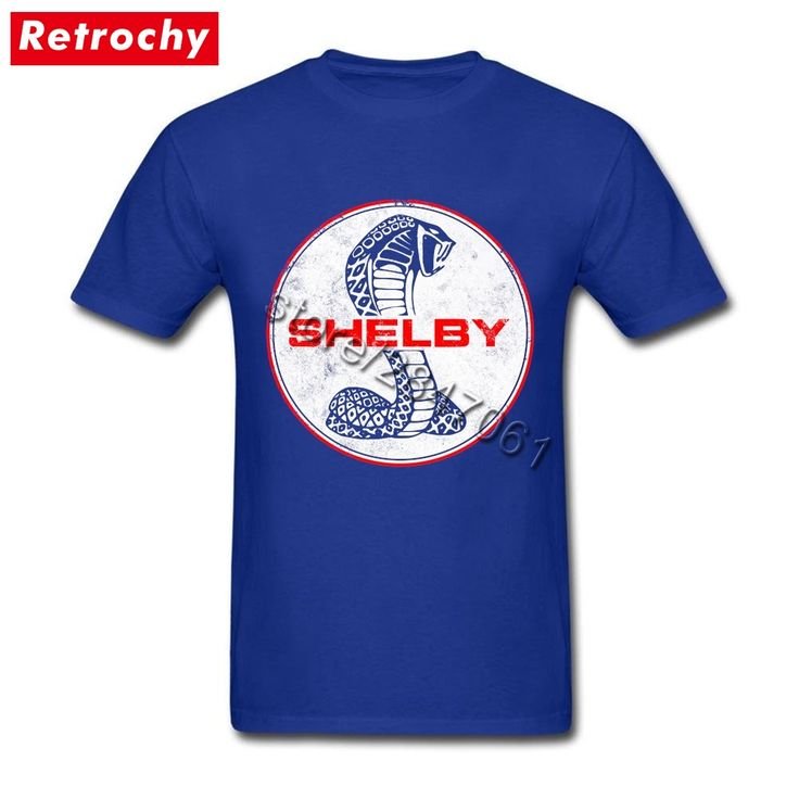 2017 Cool Vintage Logo Shelby Cobra T Shirt Men UK Custom Fitted Short Sleeve Leisure Tees Shirts  Mans Big and Tall Fan Apparel #Affiliate