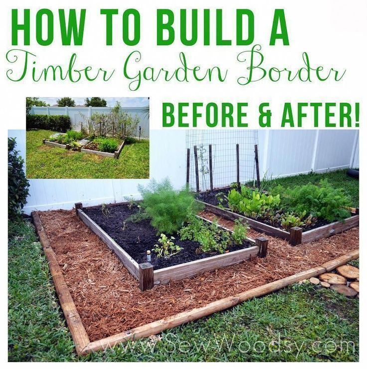 How To Build A Woodland Garden Vegetable Garden Tips by SewWoodsy.com #M