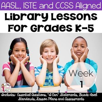 FREE Library Lessons for the First Week of School! (K-5)I know that it is impossible to design lesson plans that will fit everyones needs.  As media specialists/librarians/library teachers, etc. we all have different schedules and student populations.